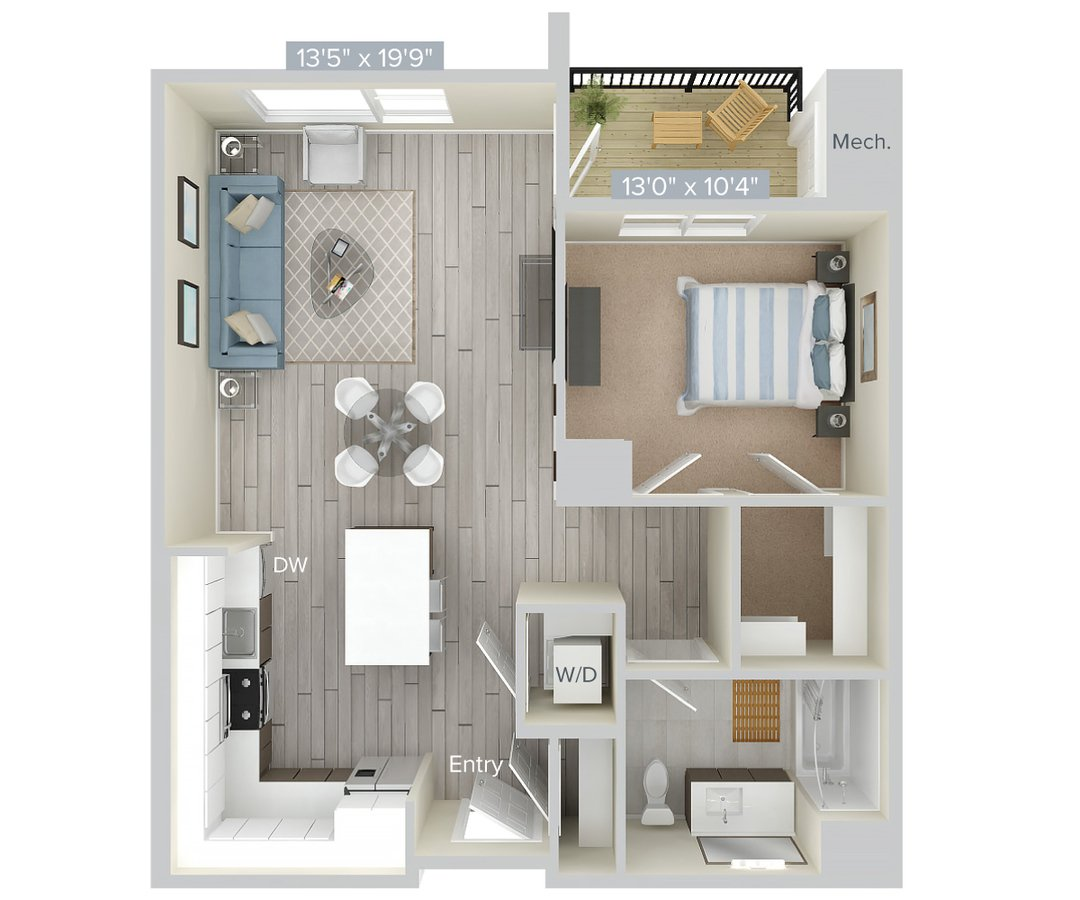 1 Bedroom 1 Bathroom Apartment for rent at Avalon At Edgewater in Edgewater, NJ