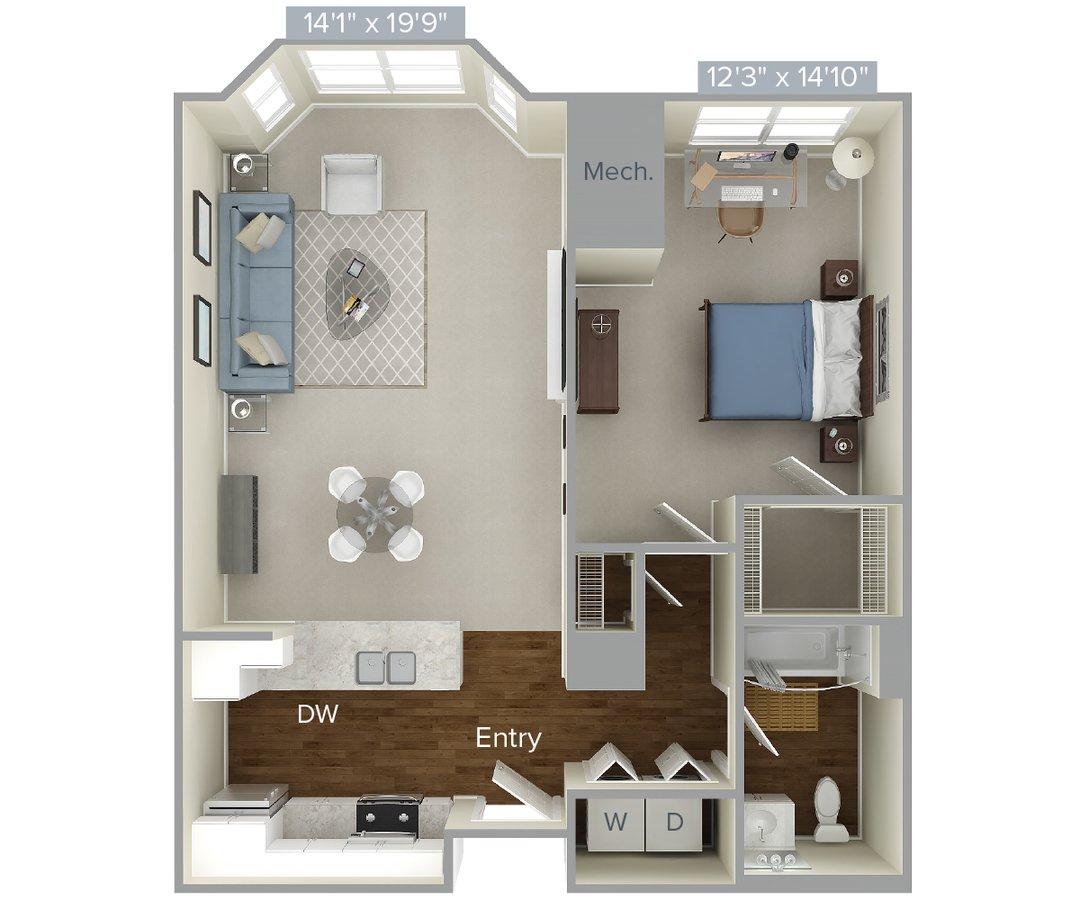 Studio 1 Bathroom Apartment for rent at Avalon At Edgewater in Edgewater, NJ