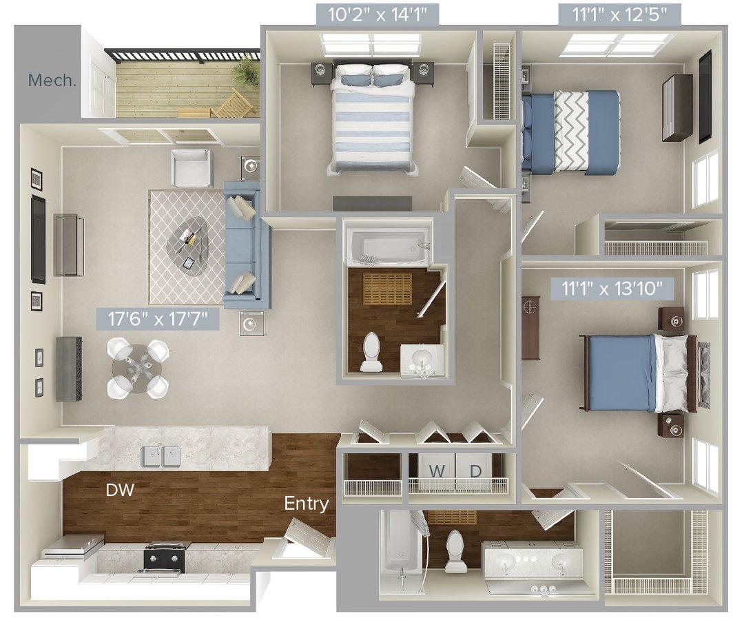 Studio 2 Bathrooms Apartment for rent at Avalon At Edgewater in Edgewater, NJ