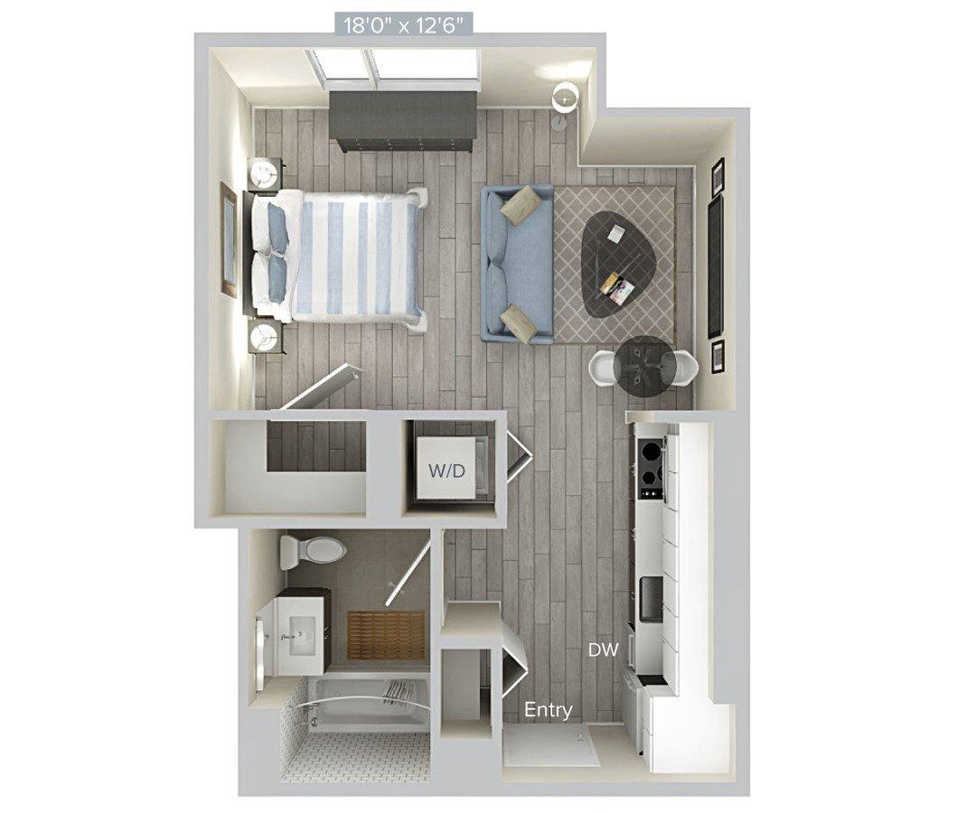 Studio 1 Bathroom Apartment for rent at Avalon Brooklyn Bay in Brooklyn, NY
