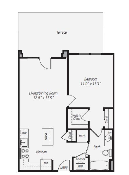 1 Bedroom 1 Bathroom Apartment for rent at Avalon Park Crest in Tysons Corner, VA