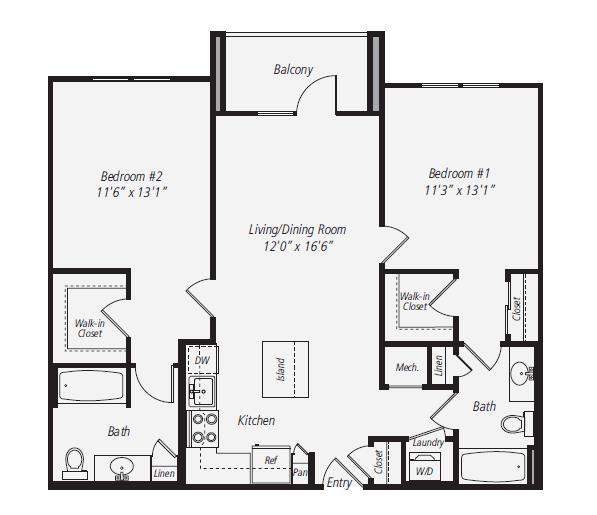 2 Bedrooms 2 Bathrooms Apartment for rent at Avalon Park Crest in Tysons Corner, VA