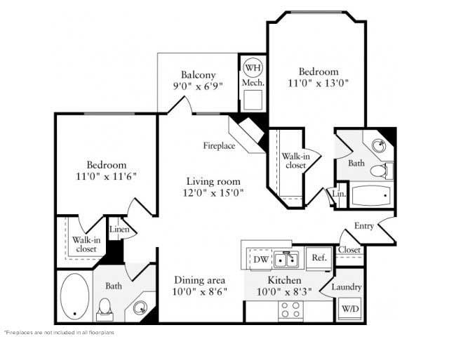 2 Bedrooms 2 Bathrooms Apartment for rent at Avalon Reston Landing in Reston, VA