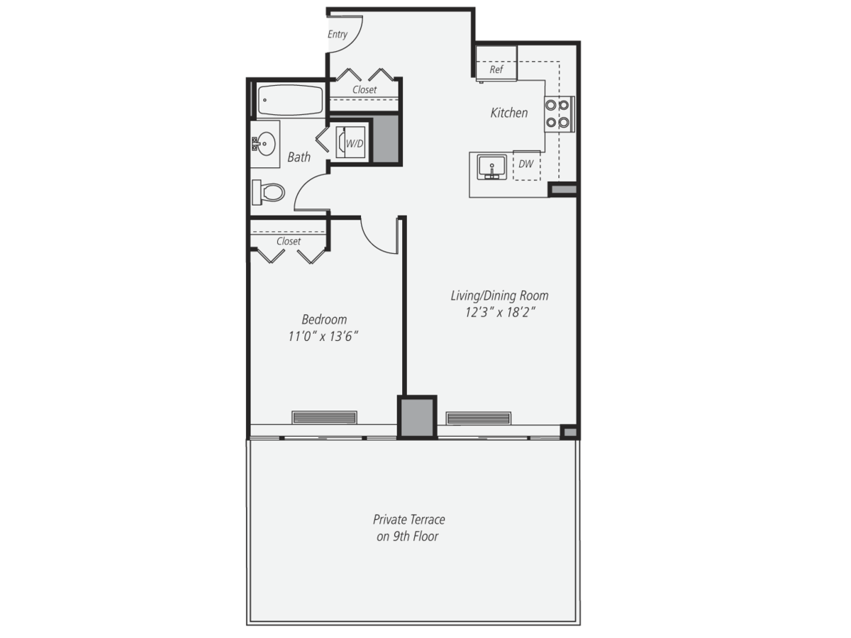 1 Bedroom 1 Bathroom Apartment for rent at Avalon West Chelsea in New York, NY