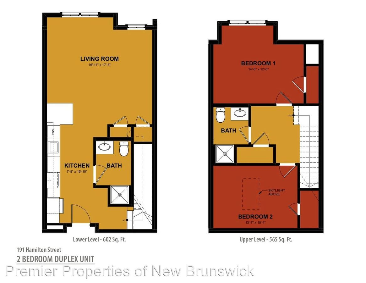2 Bedrooms 2 Bathrooms Apartment for rent at 191 Hamilton Street in New Brunswick, NJ