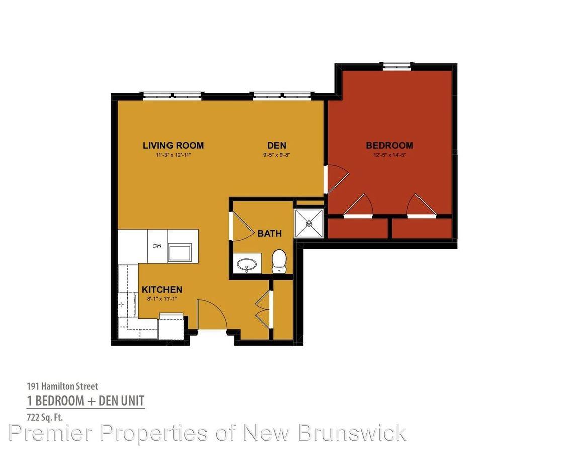 1 Bedroom 1 Bathroom Apartment for rent at 191 Hamilton Street in New Brunswick, NJ