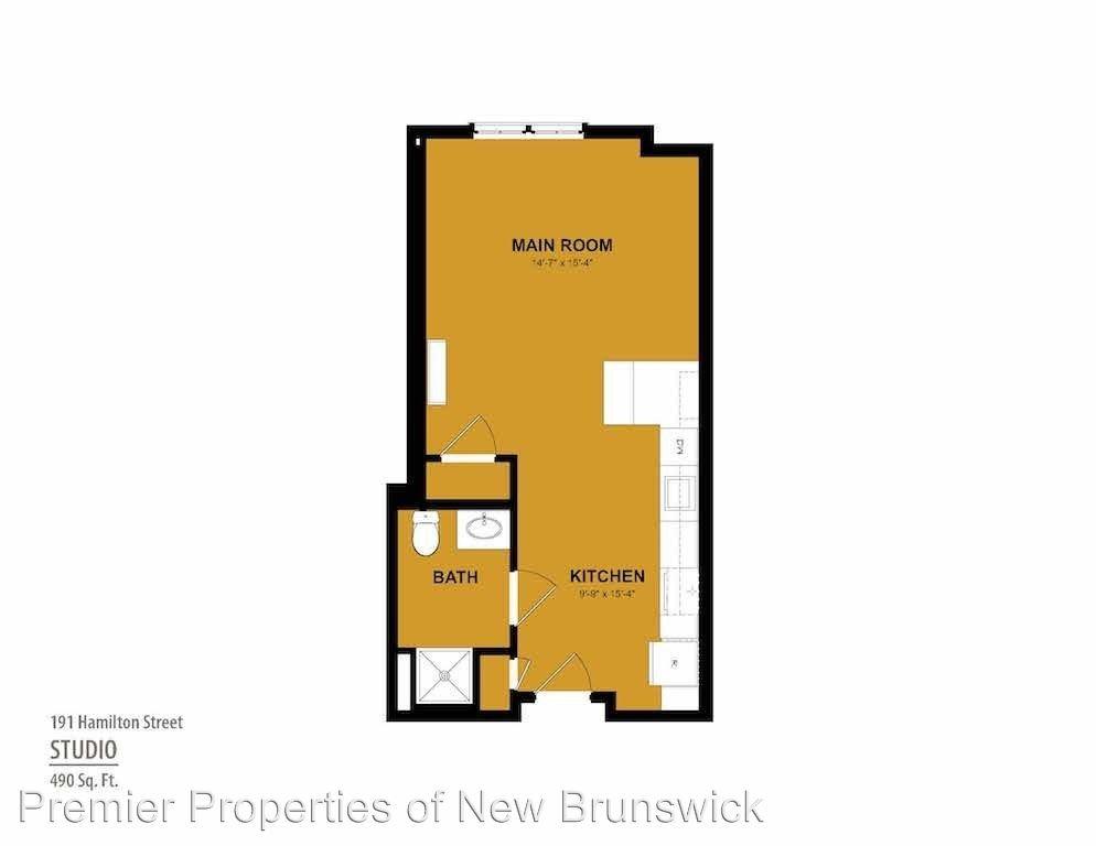 Studio 1 Bathroom Apartment for rent at 191 Hamilton Street in New Brunswick, NJ