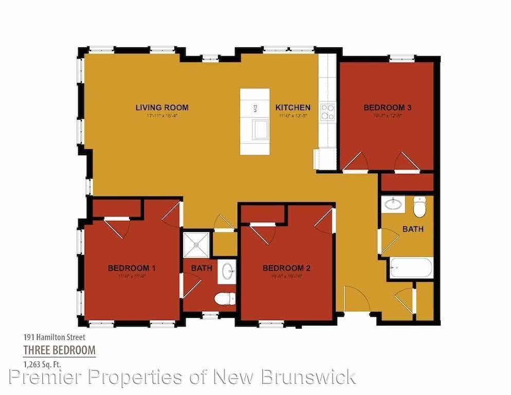 3 Bedrooms 2 Bathrooms Apartment for rent at 191 Hamilton Street in New Brunswick, NJ