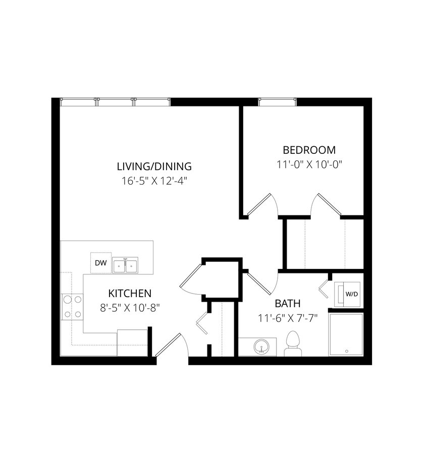 1 Bedroom 1 Bathroom Apartment for rent at Latitude in Milwaukee, WI