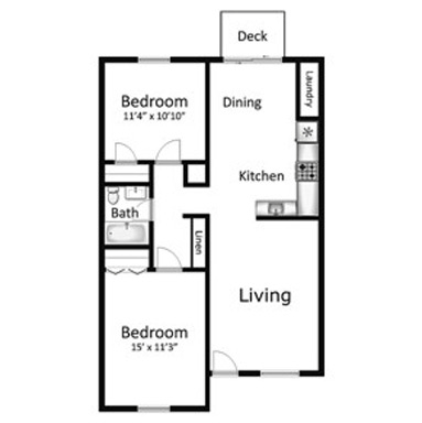 2 Bedrooms 1 Bathroom Apartment for rent at The Landmark On Longmire in College Station, TX