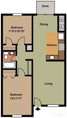 Studio 1 Bathroom Apartment for rent at The Landmark On Longmire in College Station, TX