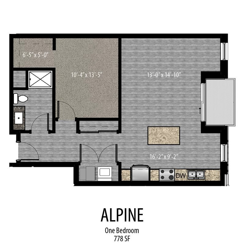 1 Bedroom 1 Bathroom Apartment for rent at Keystone On Brady in Milwaukee, WI