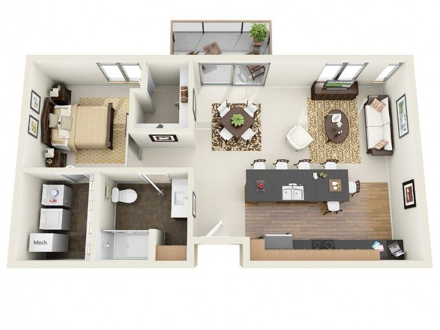 1 Bedroom 1 Bathroom Apartment for rent at The North End in Milwaukee, WI