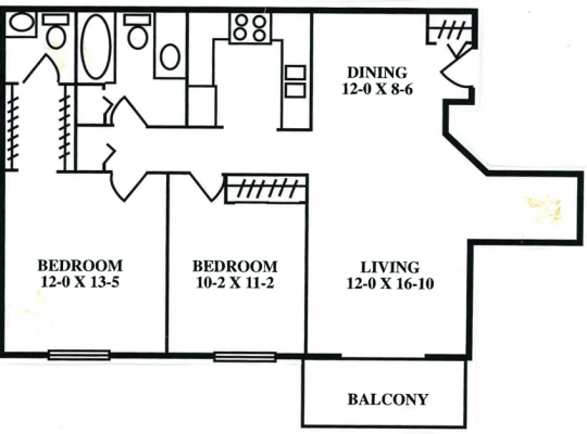 2 Bedrooms 2 Bathrooms Apartment for rent at Servite Village in Milwaukee, WI