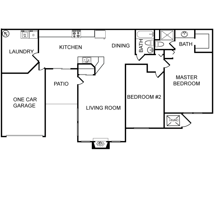 2 Bedrooms 2 Bathrooms Apartment for rent at Lincolnshire Coach Homes in Milwaukee, WI