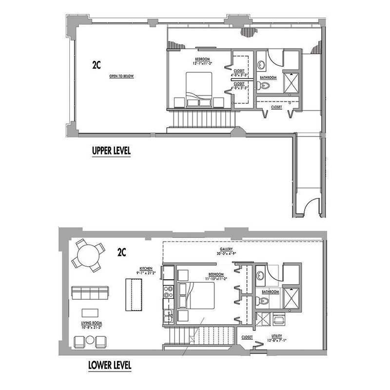 2 Bedrooms 2 Bathrooms Apartment for rent at Junior House Lofts in Milwaukee, WI