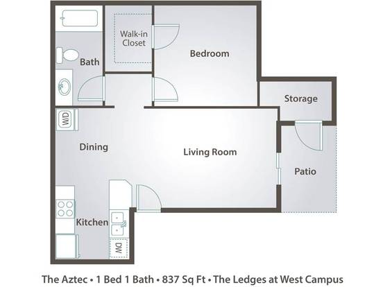 1 Bedroom 1 Bathroom Apartment for rent at The Ledges At West Campus in Tucson, AZ