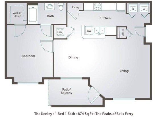 1 Bedroom 1 Bathroom Apartment for rent at Peaks At Bells Ferry in Acworth, GA
