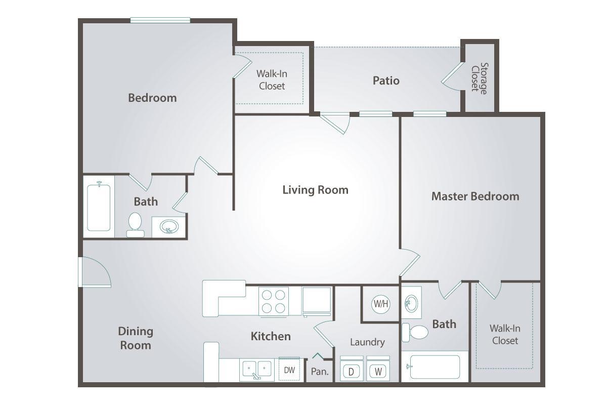 2 Bedrooms 2 Bathrooms Apartment for rent at Peaks At West Atlanta in Atlanta, GA
