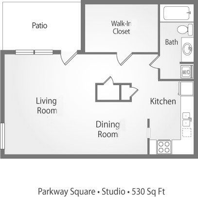 Studio 1 Bathroom Apartment for rent at Parkway Square Apartments in Tallahassee, FL