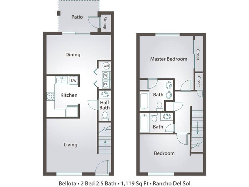 2 Bedrooms 2 Bathrooms Apartment for rent at Rancho Del Sol in Peoria, AZ