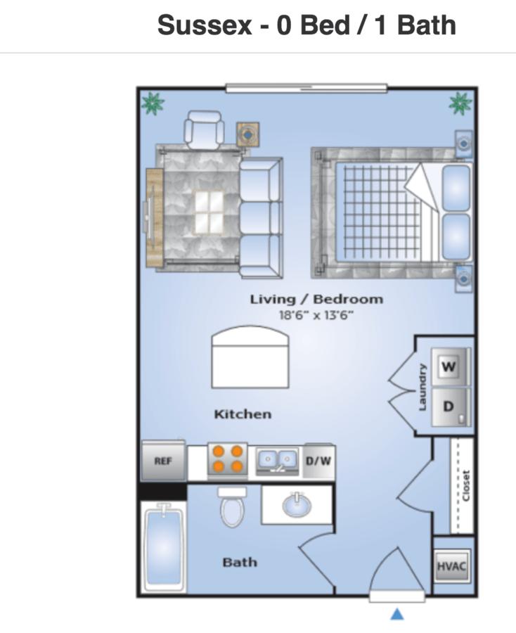 Studio 1 Bathroom Apartment for rent at Station 121 in Birmingham, AL