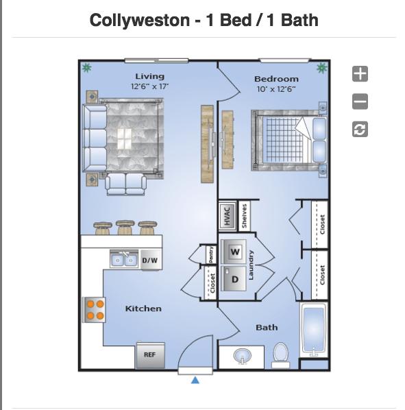 1 Bedroom 1 Bathroom Apartment for rent at Station 121 in Birmingham, AL