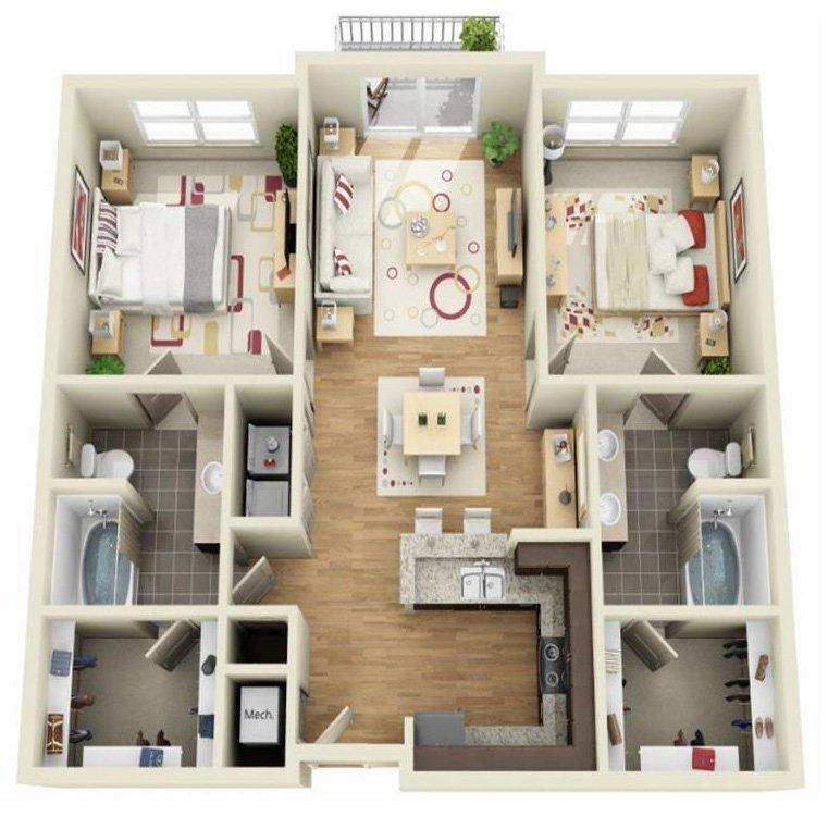 2 Bedrooms 2 Bathrooms Apartment for rent at Century Skyline in Atlanta, GA