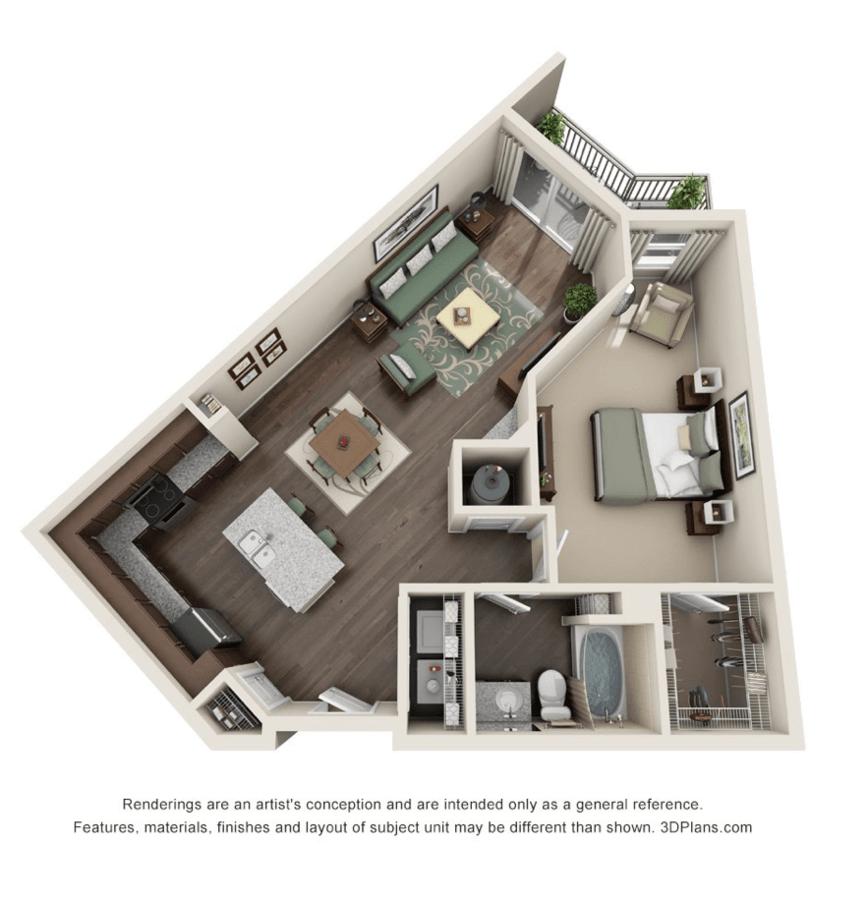 1 Bedroom 1 Bathroom Apartment for rent at Century Millenia in Orlando, FL