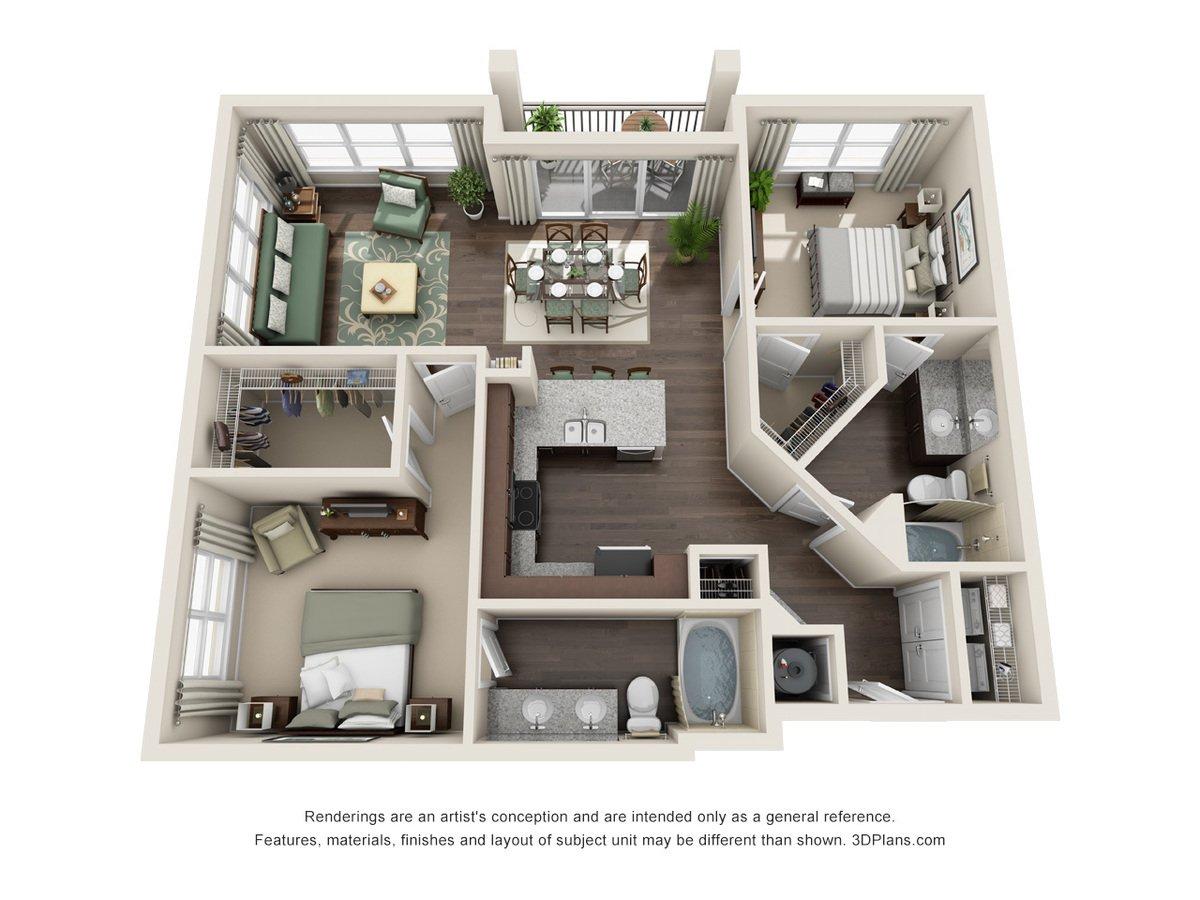 2 Bedrooms 2 Bathrooms Apartment for rent at Century Millenia in Orlando, FL
