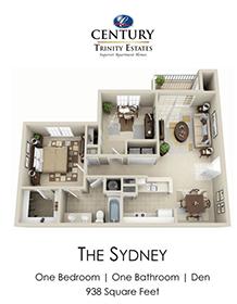 1 Bedroom 1 Bathroom Apartment for rent at Century Trinity Estates in Durham, NC