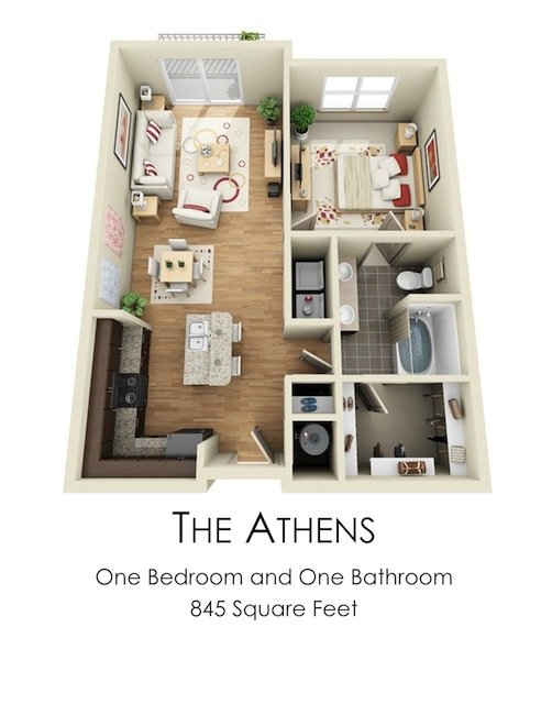 1 Bedroom 1 Bathroom Apartment for rent at Century Skyline in Atlanta, GA
