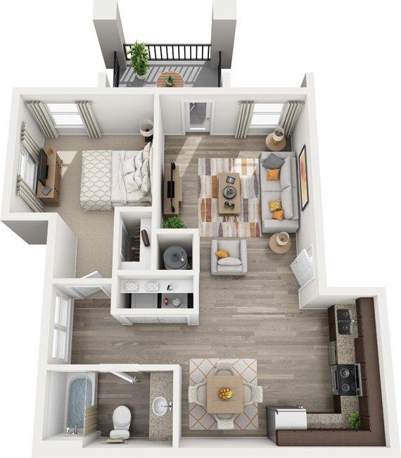 1 Bedroom 1 Bathroom Apartment for rent at Century Autumn Wood in Murfreesboro, TN