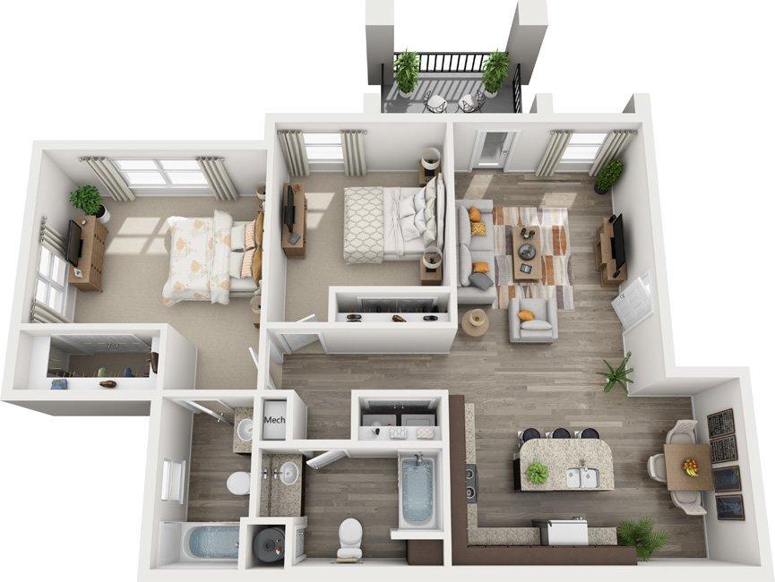 2 Bedrooms 2 Bathrooms Apartment for rent at Century Autumn Wood in Murfreesboro, TN