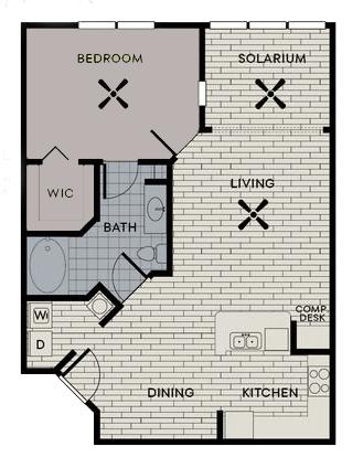 1 Bedroom 1 Bathroom Apartment for rent at Century Deerwood Park in Jacksonville, FL