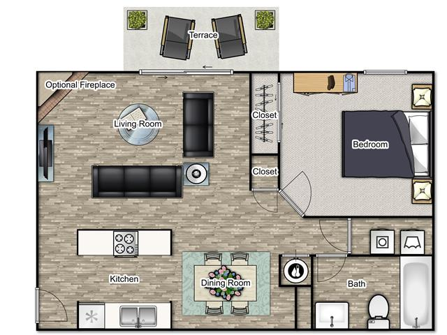 1 Bedroom 1 Bathroom Apartment for rent at Reserve At Sweetwater Creek in Austell, GA