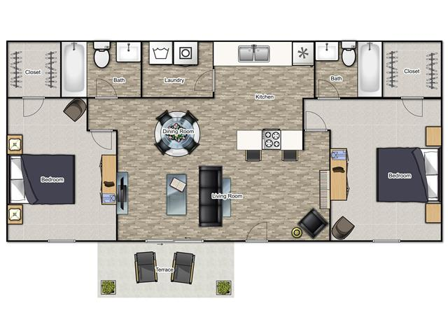 2 Bedrooms 2 Bathrooms Apartment for rent at Reserve At Sweetwater Creek in Austell, GA