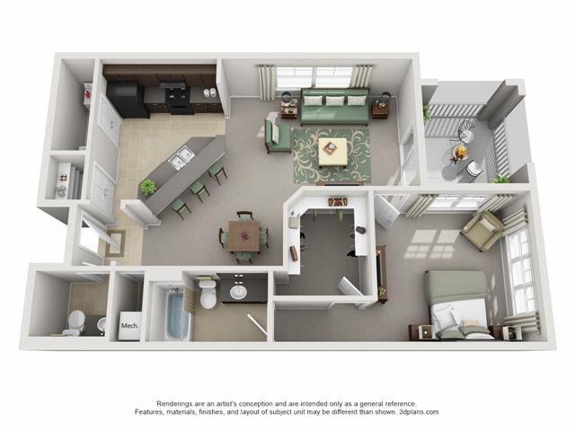 1 Bedroom 1 Bathroom Apartment for rent at Century Cross Creek in Tampa, FL