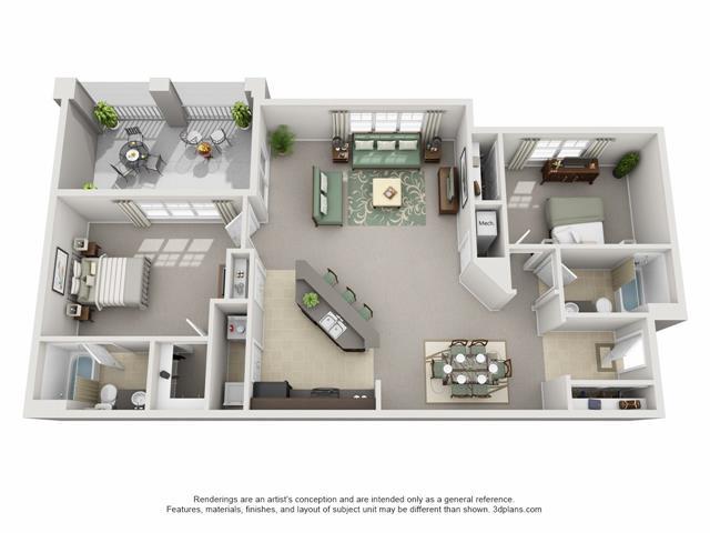 2 Bedrooms 2 Bathrooms Apartment for rent at Century Cross Creek in Tampa, FL