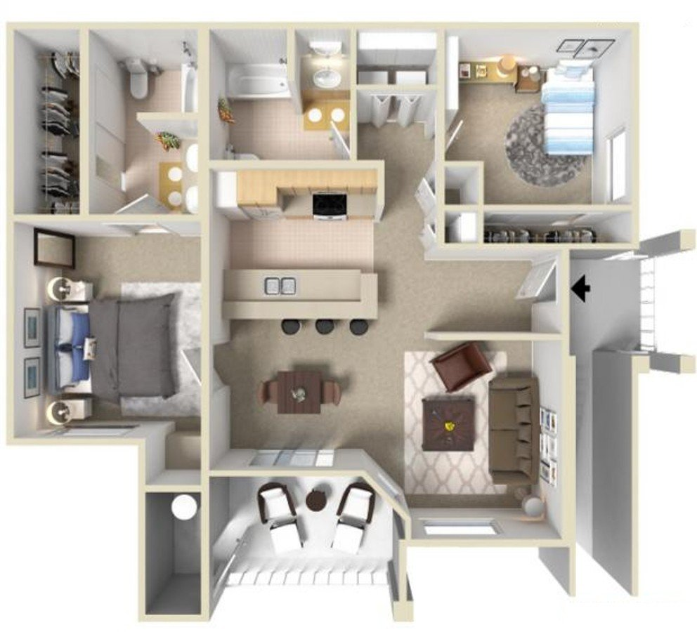 2 Bedrooms 2 Bathrooms Apartment for rent at Monticello At Southport in West Sacramento, CA