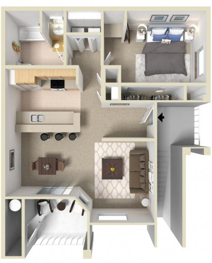 1 Bedroom 1 Bathroom Apartment for rent at Monticello At Southport in West Sacramento, CA