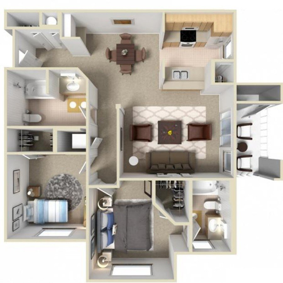2 Bedrooms 2 Bathrooms Apartment for rent at The Highlands At Spectrum in Gilbert, AZ