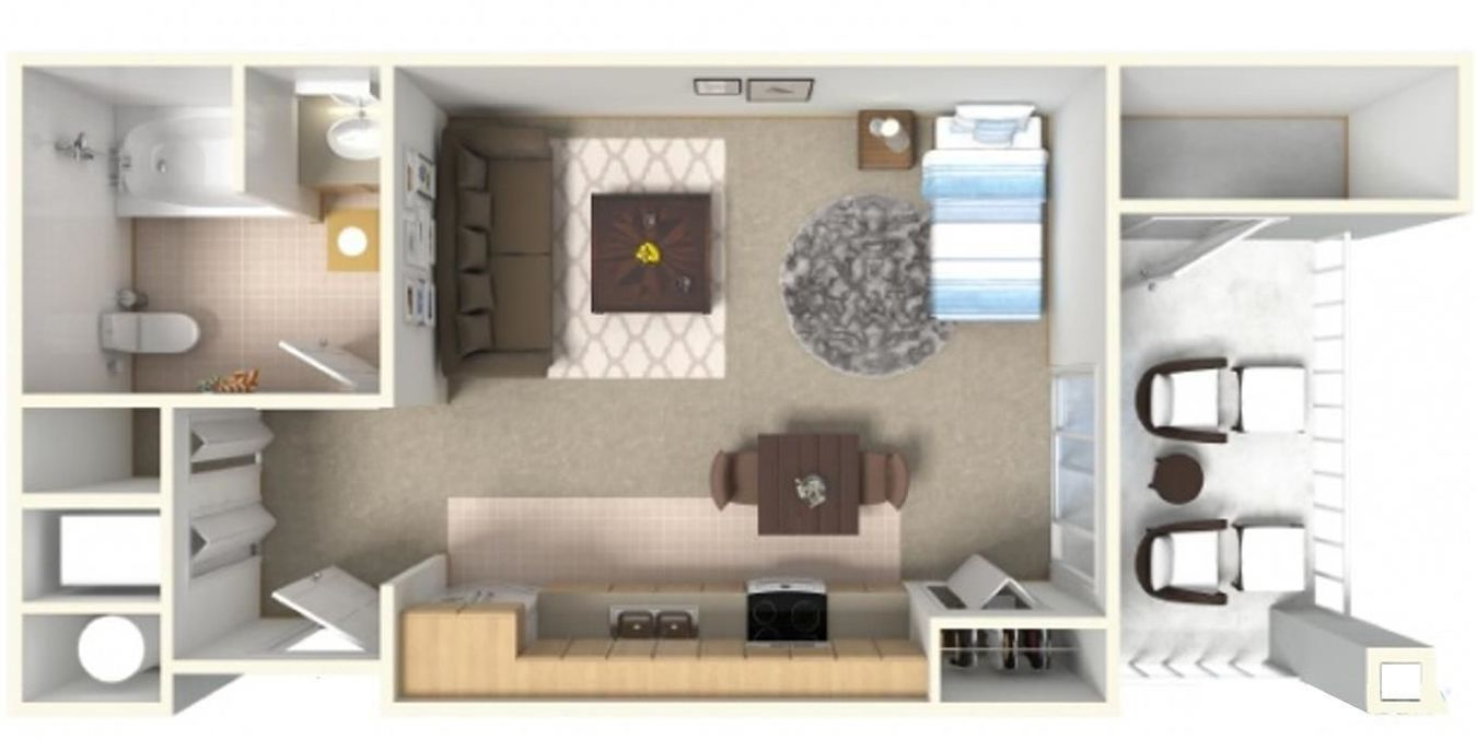 Studio 1 Bathroom Apartment for rent at Tierra Pointe Apartments in Casa Grande, AZ