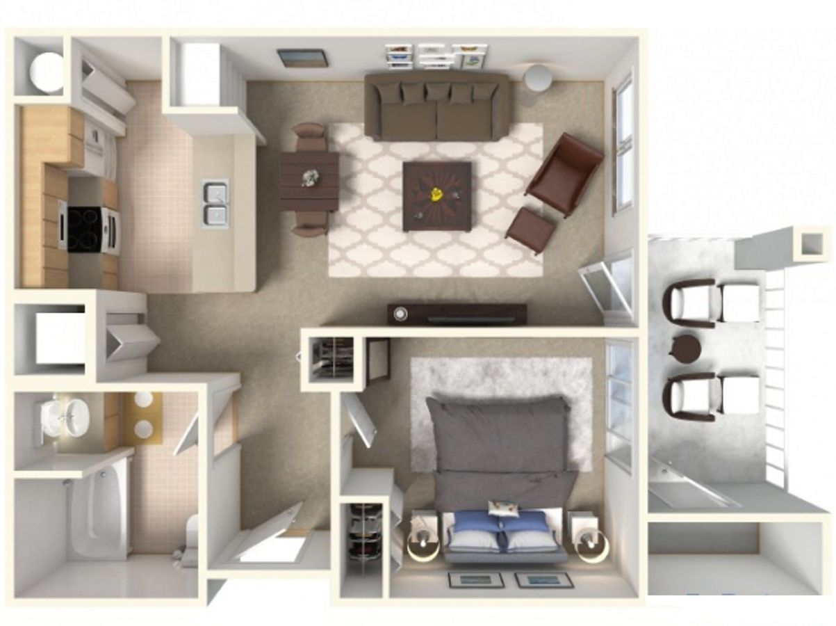 1 Bedroom 1 Bathroom Apartment for rent at Tierra Pointe Apartments in Casa Grande, AZ
