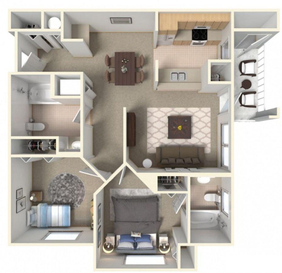 2 Bedrooms 2 Bathrooms Apartment for rent at Tierra Pointe Apartments in Casa Grande, AZ