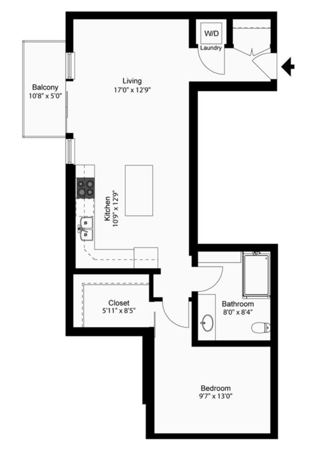 1 Bedroom 1 Bathroom Apartment for rent at The Walkway in Minneapolis, MN
