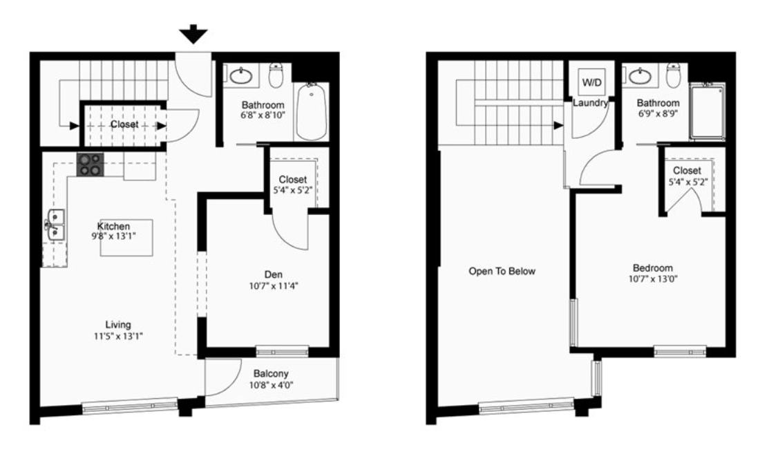 1 Bedroom 2 Bathrooms Apartment for rent at The Walkway in Minneapolis, MN