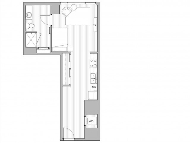 Studio 1 Bathroom Apartment for rent at The Link in Minneapolis, MN