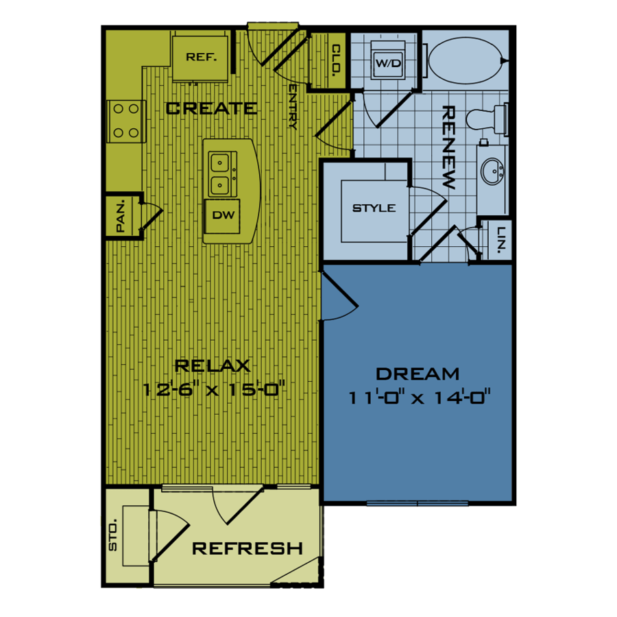 1 Bedroom 1 Bathroom Apartment for rent at Beacon At Buffalo Pointe in Houston, TX