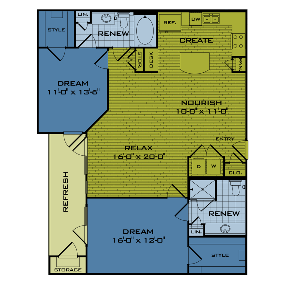 2 Bedrooms 2 Bathrooms Apartment for rent at Beacon At Buffalo Pointe in Houston, TX